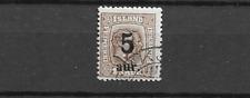 1876 USED Iceland, Mi 9B  perf 12 3/4