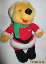 "Winnie The Pooh Dressed Like Santa Christmas Plush Bear 10"" Mattel 1995"