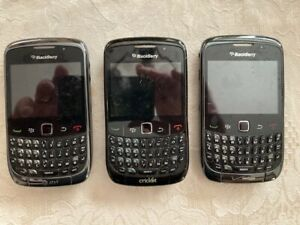 Blackberry Curve Cellular Phones - Lot of 3 Untested