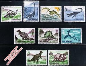 San Marino 1965 PREHISTORIC ANIMALS MNH DINOSAURS, REPTILES