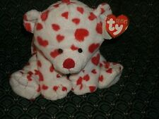 "Ty Pluffies 8"" DREAMSY (VALENTINE Bear) *Bead eyes* MWMT * RETIRED *RARE* TyLux"