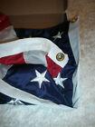 ORIGINAL US FAHNE STARES & STRIPES FLAGGE BESTICKT MADE IN U.S.A. 3x5'  90x160cm