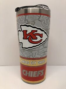 NEW Kansas City Chiefs Tervis Tumblr 20oz Stainless Steel NFL Mahomes Kelce Hill