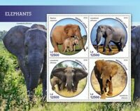 Sierra Leone - 2019 Elephants - 4 Stamp Sheet - SRL190213a