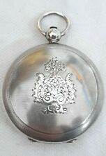 Verge watch Solid Silver Hunter Pocket watch case !!! French / Swiss. *1800s*