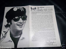 THE BEATLES UK FAN CLUB No.7  SUMMER 1966 NEWSLETTER ONLY EVER ISSUED TO MEMBERS