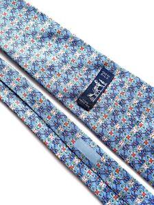 Hermes Paris Tie 7675 TA Silk 100%  Authentic 100% Made In France. Monogram