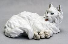 Royal Vienna Augarten Wien Persian White Cat Figurine 1646 Beautiful Porcelain