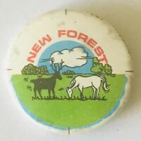 New Forest Horse Deer Souvenir Retro Button Badge Pin Rare Vintage (H12)