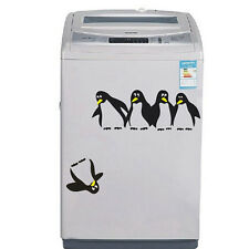 Funny Penguin Kitchen Fridge Vinyl Sticker Creative Decals For Home Decoration