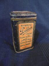 boite publicitaire pulvérisé chocolat poulain ancien en fer blanc art populaire