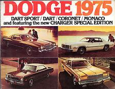 DODGE Dart Coronet CARICABATTERIE MONACO 1975 mercato canadese BROCHURE DI VENDITA