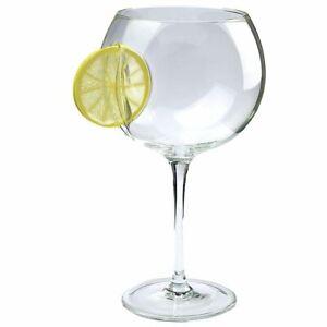 Gin / Vodka Balloon Glass - Embedded design - Lemon Slice Design