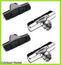Set 4 Pattini Freno Bici Bicicletta Corsa Compatibili Campagnolo Per Alluminio