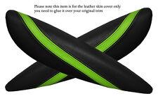 Black & green 2x PANTHERS SPORTELLO BRACCIOLO PELLE COPERTURA Adatta per BMW Mini Cooper R56 07-14