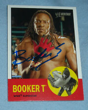 Booker T Signed WWE 2006 Topps Heritage Card #33 Autograph Pro Wrestling WCW TNA