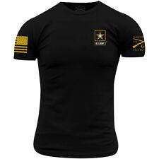 Тяжелую стиль армии-базовые полный логотип футболка-черный