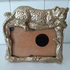 """CLEARANCE* Opal house Picture Frame Gold Panther Cat Leopard 7"""" x 6.5"""""""