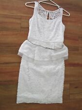 REVIEW, white  LACE DRESS ,SIZE  8