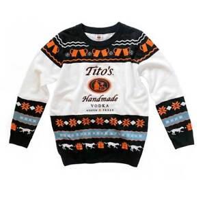 Tito's Handmade Vodka Ugly Sweater Austin, TEXAS - Size Medium Holiday Xmas gift