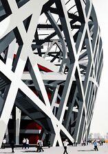 Beijing Bird's Nest Olympic Stadium People Pop Art Ltd Edition Signed Art Print