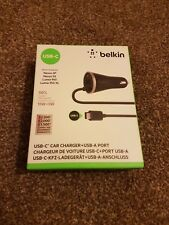 Belkin USB-C 15W Car Charger for Google Pixel XL Pixel P9 Galaaxy Galaxy S8 S8+