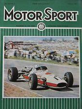Motor Sport magazine 02/1967 featuring Alfa Romeo Spider, Speedwell VW Beetle