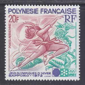 French Polynesia 1972 MNH Sc C84 Mi 152 Winter Olympic Games, Sapporo **