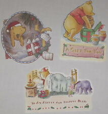 Classic Pooh & Friends Set of 3 Christmas Gift Cards - Blank Set #1