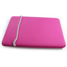 "Neoprene Sleeve Case Briefcase Bag for Macbook Air 11.6"" 11 inch Laptop-Hotpink"