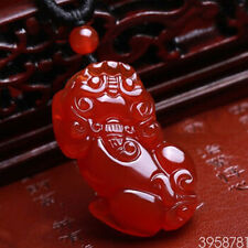 Genuine natural ice kinds of red agate pendant PI Xiu Amulet Necklace fashion