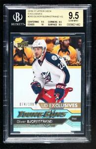 2016-17 Upper Deck Young Guns Exclusives /100 Oliver Bjorkstrand BGS 9.5 Rookie