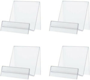 6 Packs Acrylic Book Display Stands Brochure Picture Easel Stand Artwork Holder