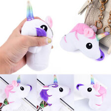 1Pc Unicorn Squishy Slow Rising Cartoon Doll Squeeze Toy Keychain Key Ring Acces