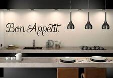 kitchen wall art quote vinyl transfer decal sticker Mural Decor  bon appetit