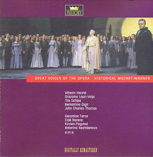 Great voices of the Opera-Historical Mozart-wagner CD (2cd) DOUBLE CD