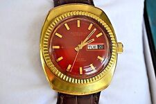 """BELLO""  RELOJ CARAVELLE AUTOMATICO CABALLERO DAY/DATE GOLD PLATED  MEN'S WATCH"