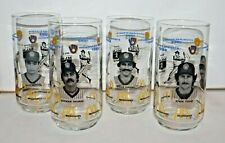 McDonalds 1982 Milwaukee Brewers Glasses Set of 4 Yount Molitor Fingers Thomas