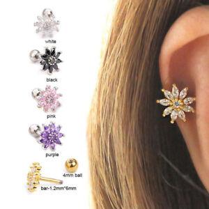 1Pc Cartilage Multi-colored Sun Flower Helix Tragus Earring Piercing Jewellery