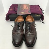 Allen Edmonds Cambridge Mens Brogue Shoes Brown Wingtip Low Top Lace Up 13 3A