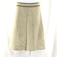 GAP Skirt Wool Blend A Line Beige Boho Size 4