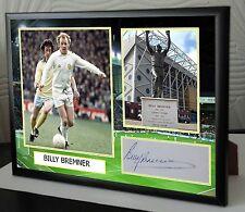 """Lienzo Enmarcado Billy Bremner Leeds impresión firmada """"Gran Regalo O Recuerdo"""""""