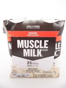 Muscle Milk Genuine Protein Shake, Vanilla Crème, 25g Protein, 11 fl oz, 4 Pack
