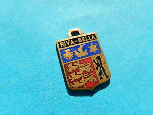 medaille pendentif  BLASON TOURISME VILLE   EMAILLE  RIVA BELLA OUISTREHAM