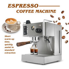Stainless Steel Espresso Cappuccino Coffee Machine With Counter 3.5L Water Tank