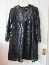 Ladies ZARA W/B Collection Black Sequinned Knee Length   Dress - Size M