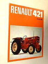 Prospectus Tracteur RENAULT 421  brochure tractor Traktor Trattore Prospekt