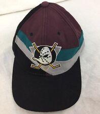 Vintage 90s Starter Mighty Ducks 100% Wool Snapback Cap Hat Great Condition