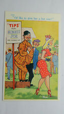 1950s Risque Postcard Horse Racing Tips Bet Bookmaker Turf Accountant Big Boobs