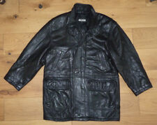 Men's TIBOR Leather Coat Butter Soft Lambskin size M-L Black - Great Condition